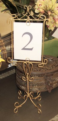 Wedding Table Number Holders  Easel Moments