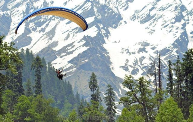 Go for Paragliding in Solang Valley