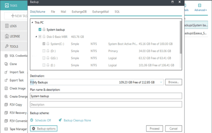back up data with easeus todo backup