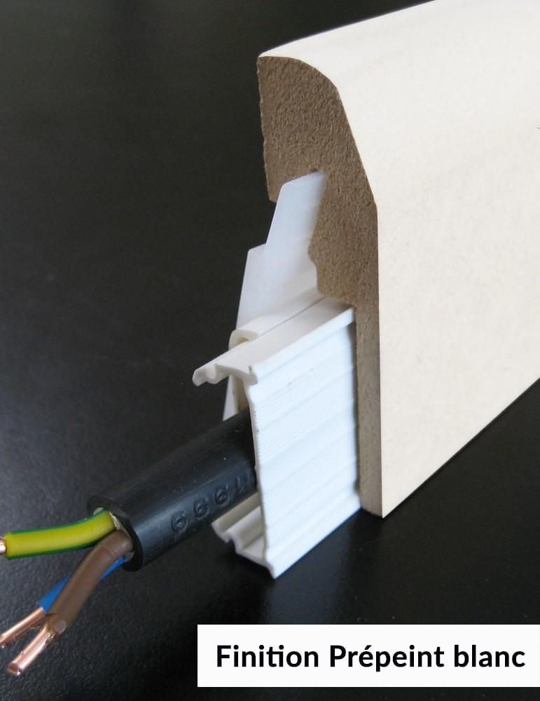 plinthe electrique prepeint blanc