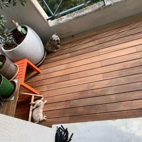 terrasse teck clipsable
