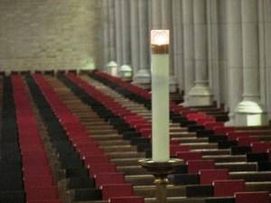 Memorial candle - USMA Cadet Chapel