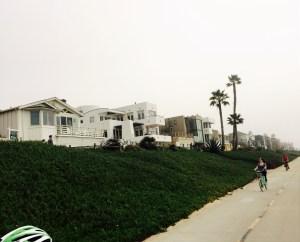 Homes along Strand at Manhattan Beach
