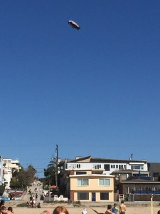 Goodyear Blimp above Manhattan Beach