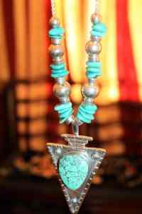 Arrowhead shaped pendant