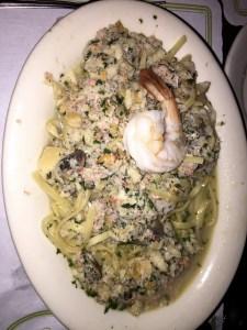 Shrimp and crab linguini