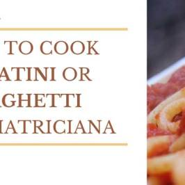 how to cook bucatini all'amatriciana