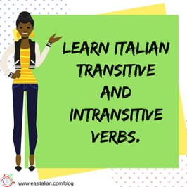 learn italian transitive and intransitive verbs