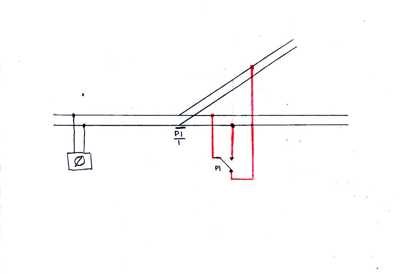 hight resolution of the point and change over switch are shown in the straight on position as usual the diagram is easier to follow than the text