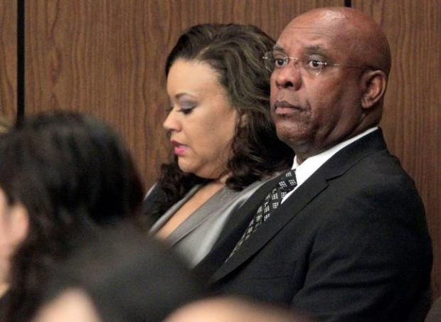 Lewis Green Clinton Jr., AC Transit's chief financial officer, waits to make an appearance in court at the Hayward Hall of Justice in Hayward, Calif., Wednesday, May 21, 2014. Clinton entered a not guilty plea to charges of embezzling more than $500,000 from one of Oakland's largest churches, Allen Temple Baptist Church. (Anda Chu/Bay Area News Group)