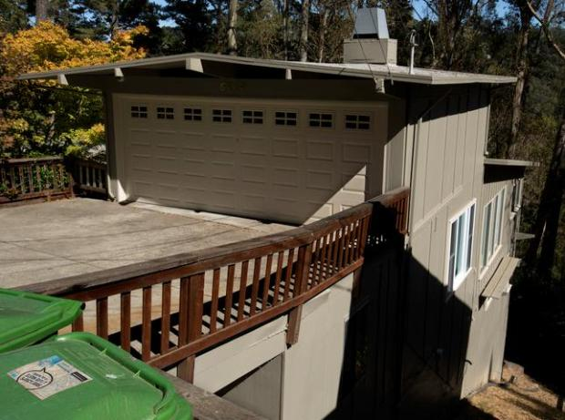This is the home in the 6700 block of Saroni Drive in Oakland, Calif. where police say that Joseph Bontempo, 53, beat to death his wife of 12 years, Laurie Wolfe, 57, on July 6 of this year; photographed Wednesday, Aug. 13, 2014. (D. Ross Cameron/Bay Area News Group)