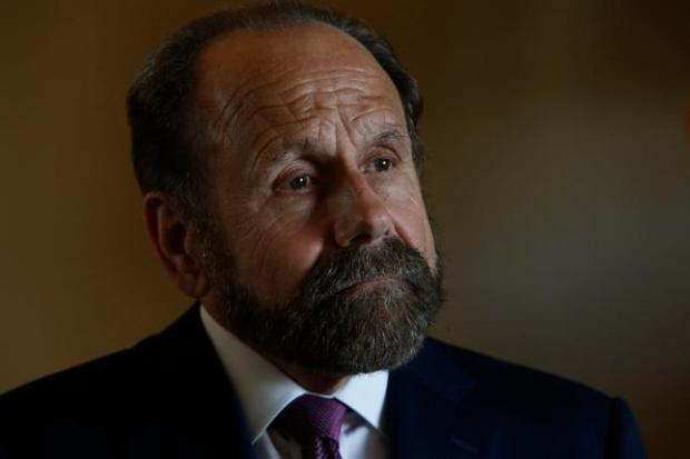State Sen. Jerry Hill discusses SB 869, his proposed bill to require law enforcement officers to secure their guns in unoccupied vehicles. stolen police guns. Hill spoke at his office in San Mateo, Calif., Friday morning, June 17, 2016. (Karl Mondon/Bay Area News Group)