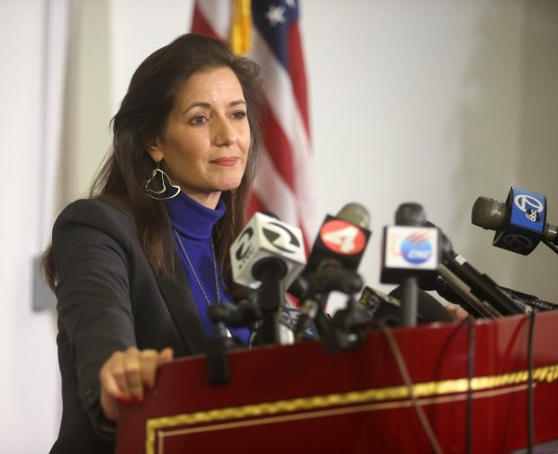 Oakland Mayor Libby Schaaf speaks at a press conference regarding the deadly Ghost Ship warehouse fire