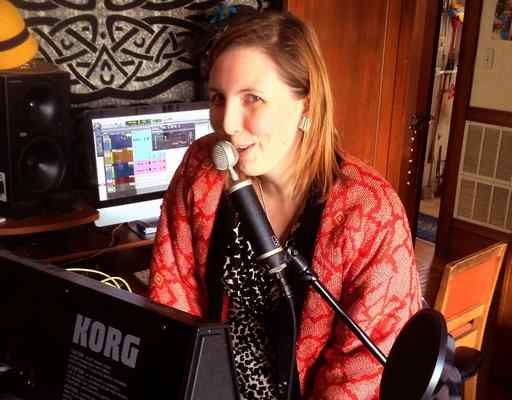 Chelsea Faith Dolan, also known as Cherushii, records a show at KALX radio in Berkeley in 2014. (facebook.com/CherushiiMusic)