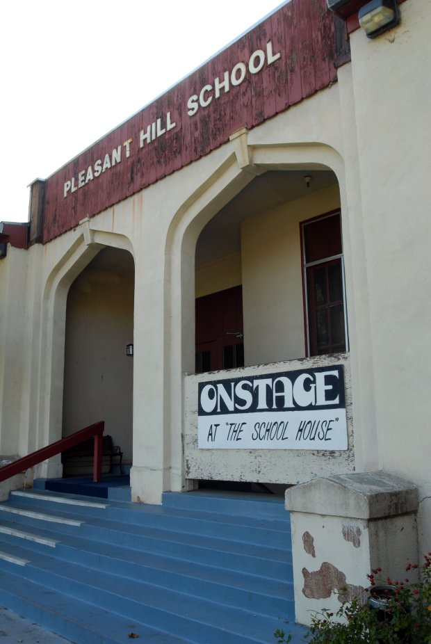 The Old School Theater in Pleasant Hill Calif., Monday, October 20, 2008 has closed due to the condition of the building. Theater groups that used the building are now searching for other venues and meeting places. (Contra Costa Times / Bob Larson)