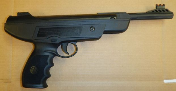 El Cerrito police arrested a man at gunpoint Monday morning after receiving reports of him armed with a gun near the post office located at 11135 San Pablo Avenue, authorities said. He had two BB guns that resembled firearms and drug paraphernalia. (El Cerrito Police Department)