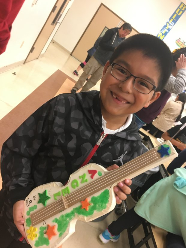 """Spring for the Symphony"" at a fundraising luncheon Saturday, February 25, at Crow Canyon Country Club in Danville, to raise funds in support of California Symphony educational programs like ""Sound Minds,"" for students like Angel, a second grade boy at Downer Elementary, who will begin with a cardboard violin, to learn the names of the strings and proper instrument care before graduating to real violin."
