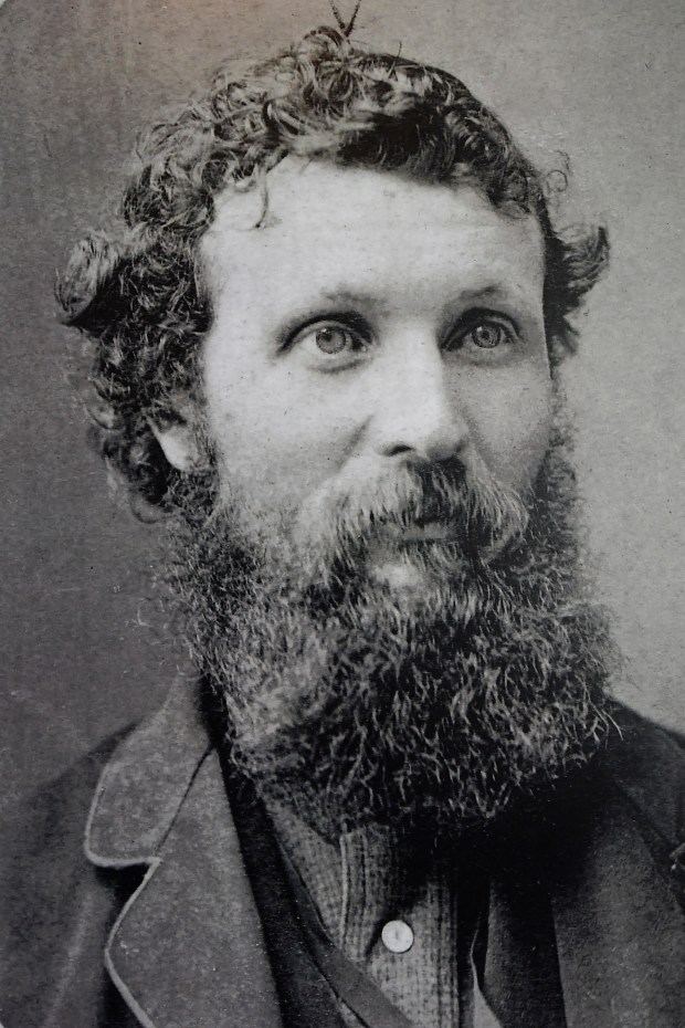 Photograph of John Muir displayed at the John Muir House at the John Muir National Historic Site in Martinez, Calif., on Monday, May 9, 2016. The John Muir House was built in 1882 by Dr. John Strentzel who is John Muir's father-in-law. The 17-room wood frame mansion is of the late Victorian period. The house was built for about $20,000 and was declared a National Historic Site in 1964. (Jose Carlos Fajardo/Bay Area News Group)