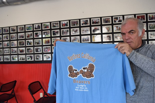 Luigi Daberdaku, owner of Luigi's Deli in downtown Martinez, used to sell a lot of these T shirts, and they still sell occasionally.