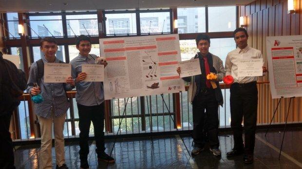 credit: Jeff WilliamsThe Albany High School bioengineering team of Caleb Williams, Trevor Ryan, Jerry Min, and Omar Ibrahim.