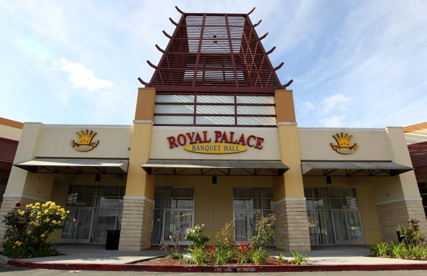 The Royal Palace Banquet Hall is photographed in Fremont, Calif., on Wednesday, May 10, 2017. A brawl at a wedding reception involving almost 70 people broke out at the banquet hall on Saturday. (Anda Chu/Bay Area News Group)