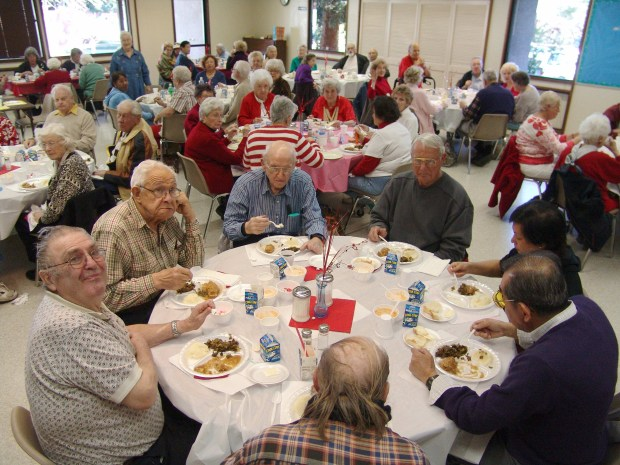 Senior centers throughout the area offer a healthy and tasty lunch Monday through Friday in the C.C. Cafe, supported by Meals on Wheels and Senior Outreach Services. Before or after lunch, participants can enjoy bridge, crafts, bingo or take a class, have their blood pressure checked, compare travel opportunities at home and abroad, and make new friends.