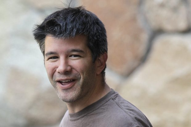 FILE - In this July 10, 2012 file photo, Uber CEO and co-founder Travis Kalanick arrives at a conference in Sun Valley, Idaho. In February 2017 Uber came under fire after a driver posted video of Kalanick berating him. Like a recent video of a ticketed passenger dragged forcefully off a United Express flight, the Uber incident is another example of bad behavior by a company or its employees called out by witnesses with a smartphone. (AP Photo/Paul Sakluma, File)