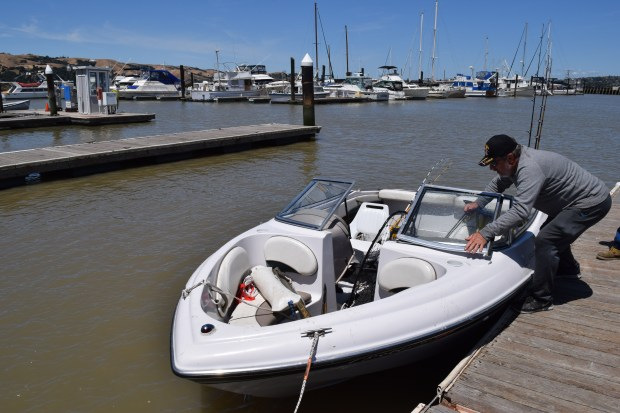 Bill Mouat of Lafayette returns to the Martinez Marina after a morning of fishing on the Delta June 1, 2017. City leaders hope a planned dredge of the marina this fall will help it survive.