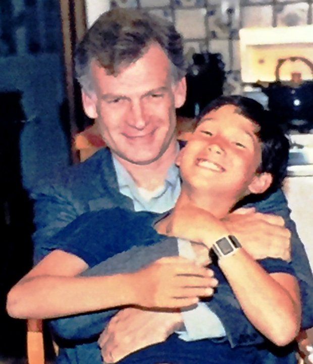 Griffin Dix and Kenzo Dix, pictured in a July 1989 family photo. Kenzo was15 when, in 1994, he was accidentally shot and killed while at a friend's house. On June 21, 2017, Griffin Dix, Kenzo's father, appeared at a news conference to publicize, along with the Alameda County District Attorney's Office, the ASK (Asking Saves Kids) Gun Safety Campaign 2017.
