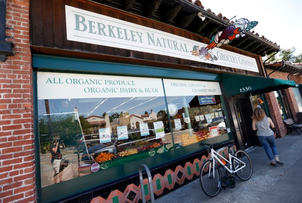 A customer enters the Berkeley Natural Grocery Company on Gilman Street in Berkeley, Calif., on Monday, June 26, 2017. (Jane Tyska/Bay Area News Group)