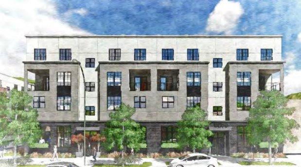 CREDIT: CITY OF EL CERRITOA 14-unit condo building is being planned at 10290 San Pablo at Eureka Avenue.