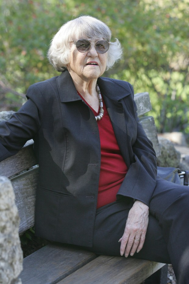 Betty Olds at the Berkeley Rose Garden on Oct. 23, 2008. (Doug Oakley/Bay Area News Group Archives)