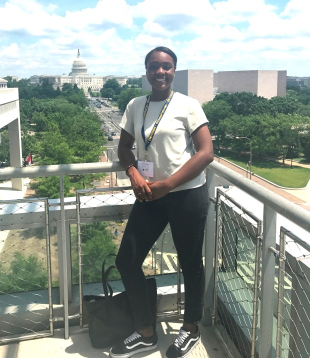 During the Global Leaders Conference, Skyline High School rising senior Leilah Clark saw several monuments and historic sites in Washington D.C., and to debate global politics with her peers. Clark said it was an eye-opening experience. (Courtesy of Alean Saunders-Coffey)