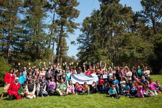 Credit: Courtesy Cali GodleyMulticultural Wellness Walk participants gather for a photo at Tilden Nature Area.
