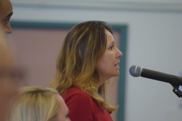 Mt. Diablo Unified School District Superintendent Nellie Meyer addressing the Contra Costa Board of Education Aug. 29, 2017