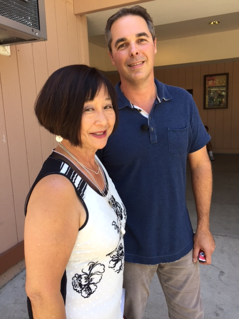 Contra Costa County Superintendent of Schools Karen Sakata visited with Contra Costa Community College District Teacher of the Year Dr. John Freytag at Diablo Valley College, in Pleasant Hill.