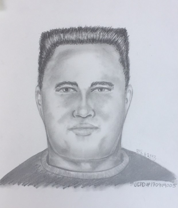 Police released this sketch of a man suspected of committing sexual battery on a female walking a trail on Monday, Sept. 4 (Photo courtesy Union City Police Department. Permission to Use. Sept. 7, 2017)