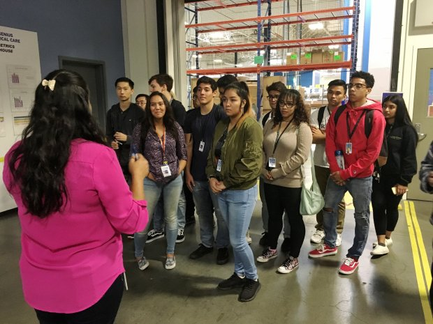 Deer Valley High students, along with two other high schools, recentlyparticipated in a hands-on industrial/engineering field trip with a manufacturing business. COURTESY JONATHAN LANCE/CCCBOE