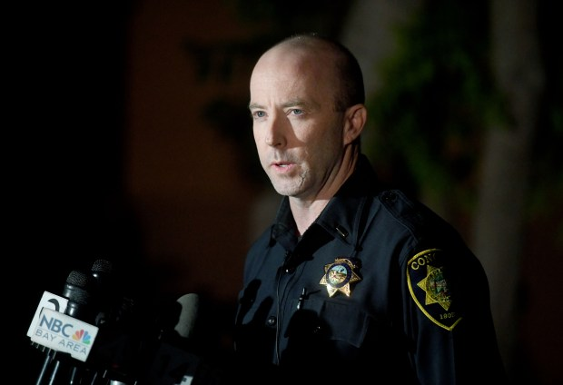 Concord police Lt. Nick Gartner announced Tuesday evening that they had booked five people on suspicion of murder and conspiracy to commit murder of Olympic High School student Lawrence Janson, 17, during a press conference in Concord, Calif., on Tuesday, Nov. 7, 2017. Janson, was fatally shot near Olympic High School as he stood among a group of people near the corner of Salvio and Beach streets around 1:30 p.m. on Monday, Nov. 6. (Doug Duran/Bay Area News Group)