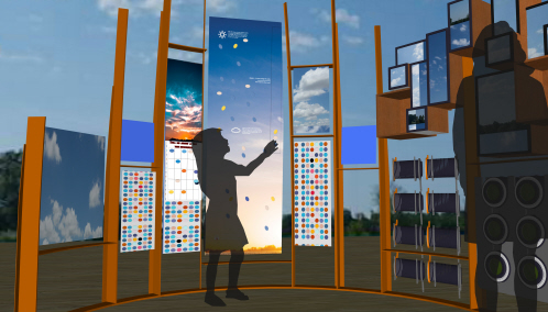 This is an artist's rendering of the Sky Mosaic installation on Chabot Space & Science Center's new observation deck to be completed in the spring 2018. (Chabot Space & Science Center)