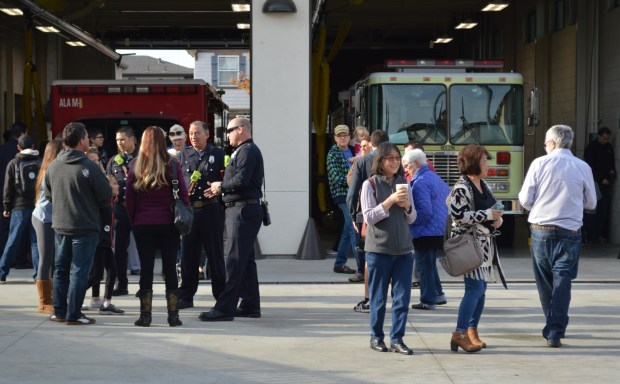 Hundreds of people gathered to see and tour Alameda's new Fire Station 3 and the Emergency Operations Center on Dec. 2. (Courtesy of Seth Hamlin)