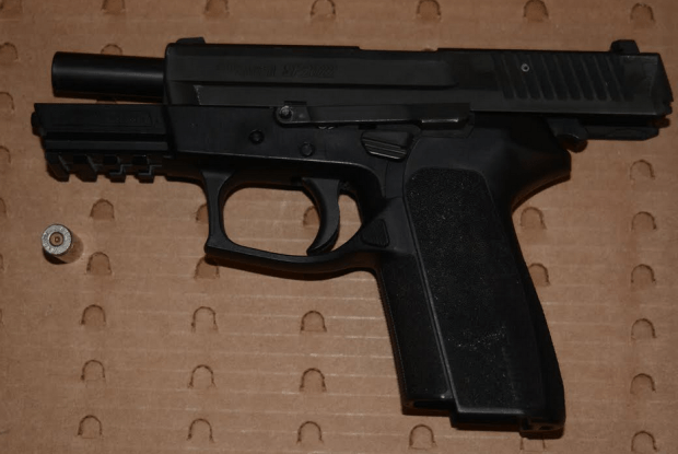 Police released a photo of a gun recovered after BART police fatally shot a suspect on Jan. 3 near the West Oakland BART station. (Oakland Police Department)