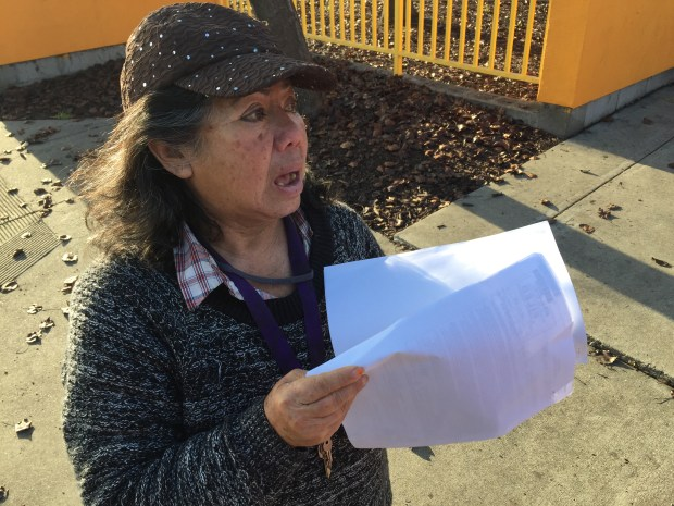 Rosie Hall, 69, of Oakland waits outside Oakland Animal Services, 1101 29th Avenue, on Thursday, Jan. 11, 2018 for a chance to see her 46 Chihuahua dogs, which were removed from her East Oakland pet store Wednesday as part of an ongoing investigation by animal control officers.