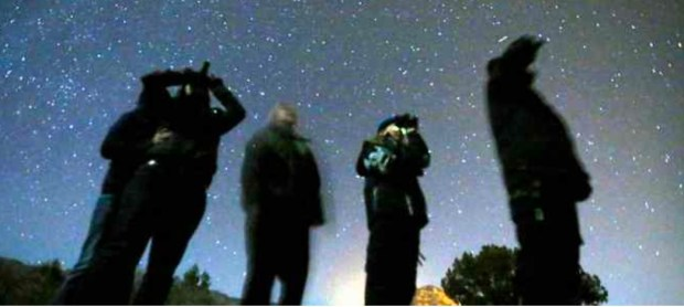 Benicians gaze skyward — possibly for Martians — using nightvision goggles as part of U.F.O. Nightwatch Encounters sponsored by Tana Newell and Angel Heart 4 You. (PHOTO CONTRIBUTED)