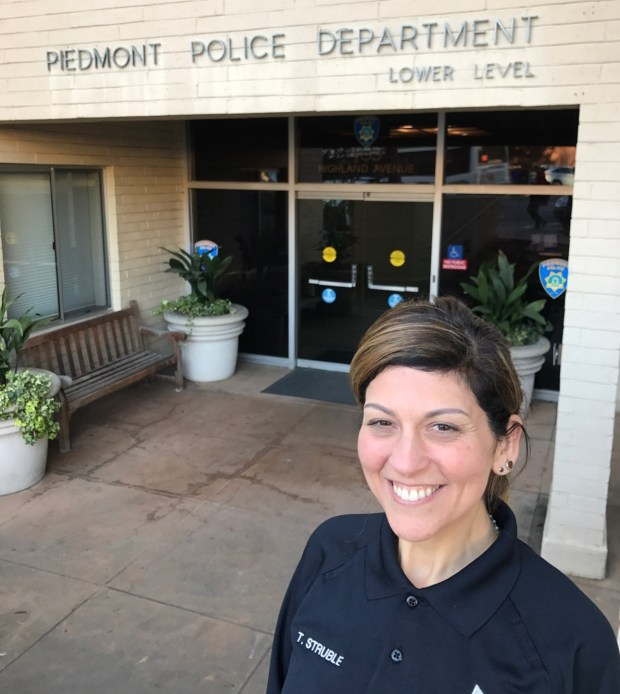 Records specialist Tonia Struble has joined the Piedmont Police Department. She was previously worked at the Fremont and Mountain View police departments. (Piedmont Police Department)