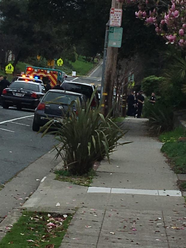 Police were investigating two deaths Sunday, on Keith Avenue in the Rockridge neighborhood of Oakland. (Harry Harris/Bay Area News Group)