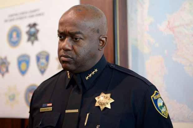 Richmond Police Chief Allwyn Brown speaks during a press conference at the Richmond Police Department in Richmond, Calif., on Wednesday, Aug. 30, 2017. (Dan Honda/Bay Area News Group Archives)