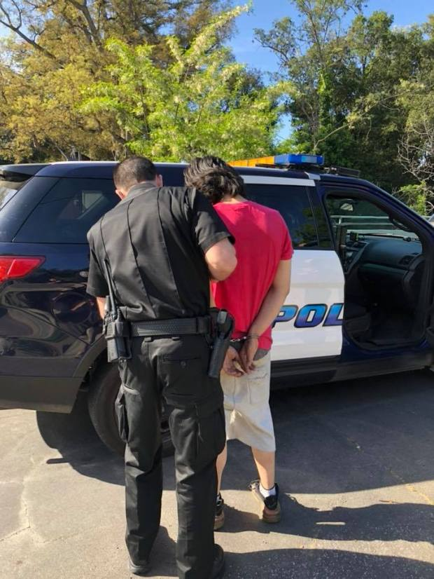 Police arrested Javier Ramirez, 23, on suspicion of assault with a deadly weapon after they say he fired a gun at a person in a residence in Martinez. (Photo courtesy Martinez Police Dept. with permission to use. April 24, 2018).