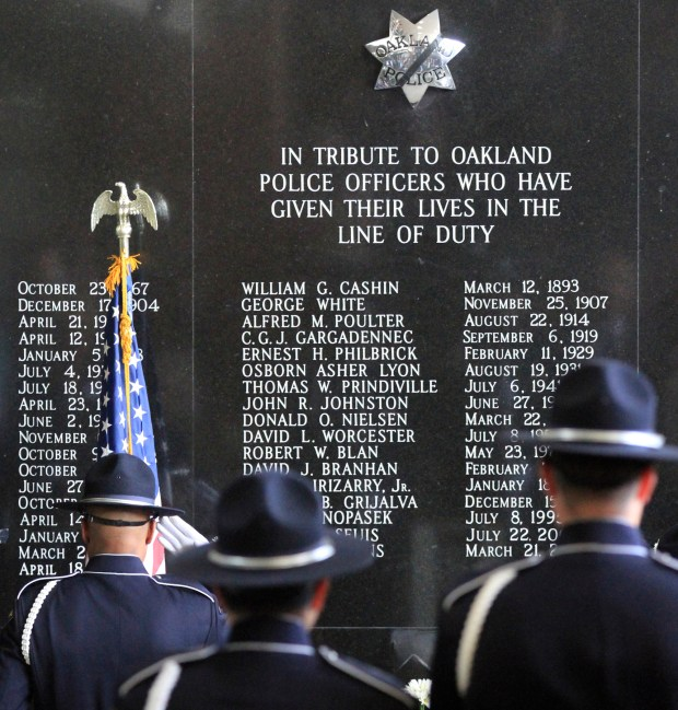 Oakland Police Department Memorial for fallen police