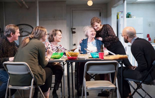 """courtesy of Julieta CervantesRichard Thomas, from left, Therese Plaehn, Pamela Reed, Lauren Klein, Daisy Eagan and Luis Vega star in """"The Humans"""" through June 17 at throughJune 17at SHN's Orpheum Theatre in San Francisco."""